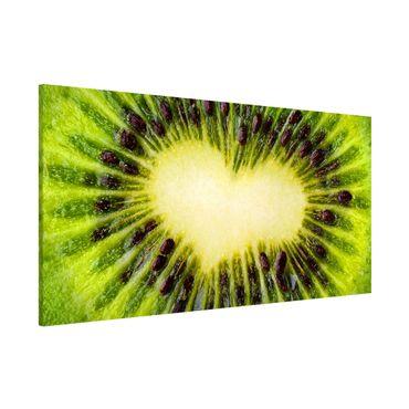 Magnettafel - Kiwi Heart - Memoboard Panorama Quer