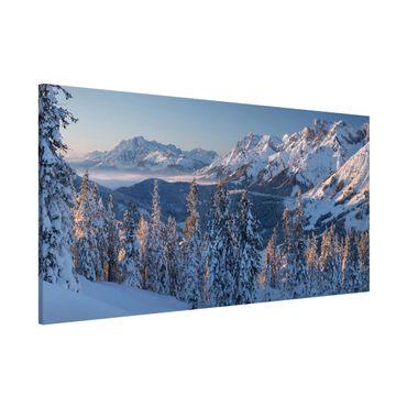 Magnettafel - Leoganger Steinberge Österreich - Memoboard Panorama Querformat