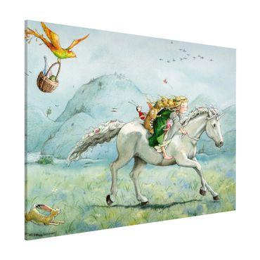 Magnettafel - Lilia - Auf dem Einhorn - Memoboard Querformat