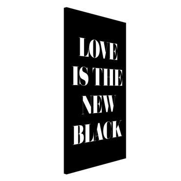 Magnettafel - Love is the new black - Memoboard Hochformat