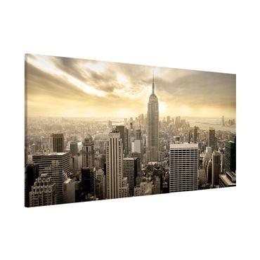 Magnettafel - Manhattan Dawn - Memoboard Panorama Quer