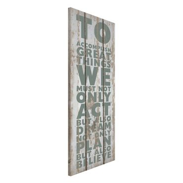 Magnettafel - No.RS179 Great Things - Memoboard Panorama Hoch