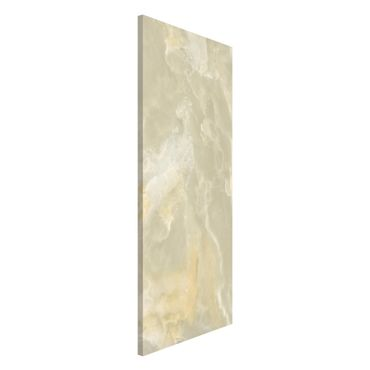 Magnettafel - Onyx Marmor Creme - Memoboard Panorama Hoch