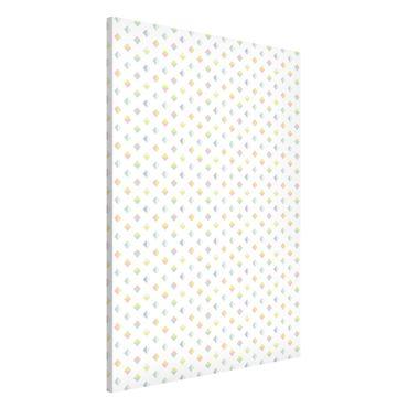 Magnettafel - Pastell Dreiecke - Memoboard Hoch