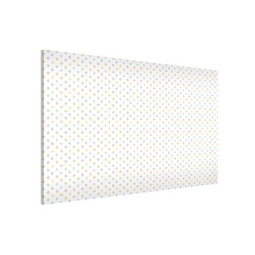 Magnettafel - Pastell Dreiecke - Memoboard Quer