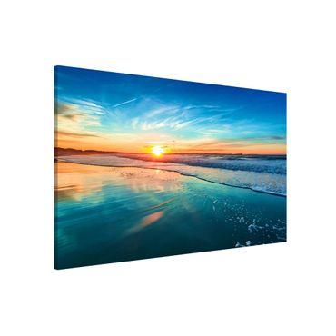 Magnettafel - Romantischer Sonnenuntergang am Meer - Memoboard Querformat