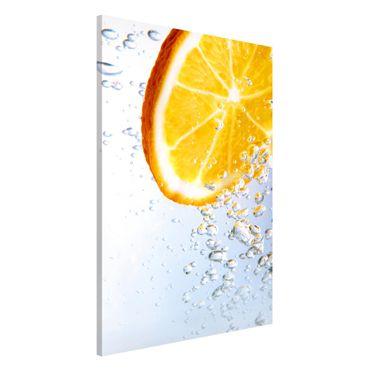Magnettafel - Splash Orange - Memoboard Hoch