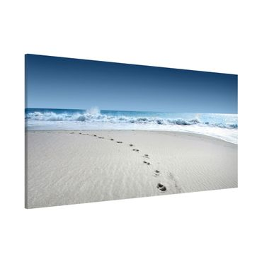 Magnettafel - Spuren im Sand - Memoboard Panorama Quer