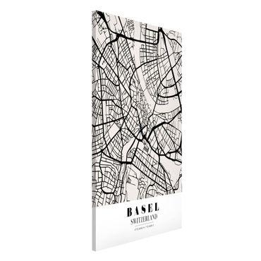 Magnettafel - Stadtplan Basel - Klassik - Memoboard Hochformat