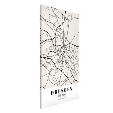Magnettafel - Stadtplan Dresden - Klassik - Memoboard Hochformat