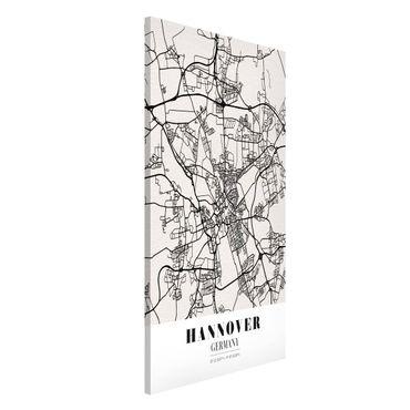 Magnettafel - Stadtplan Hannover - Klassik - Memoboard Hochformat