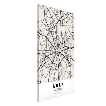 Magnettafel - Stadtplan Köln - Klassik - Memoboard Hochformat