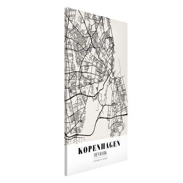 Magnettafel - Stadtplan Kopenhagen - Klassik - Memoboard Hochformat
