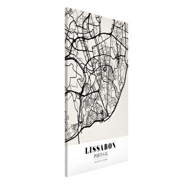 Magnettafel - Stadtplan Lissabon - Klassik - Memoboard Hochformat