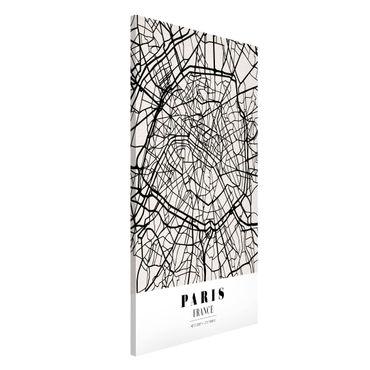 Magnettafel - Stadtplan Paris - Klassik - Memoboard Hochformat