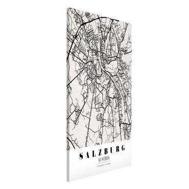 Magnettafel - Stadtplan Salzburg - Klassik - Memoboard Hochformat