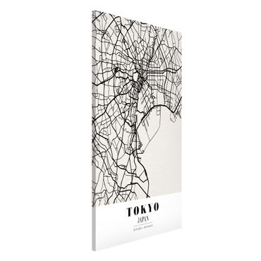 Magnettafel - Stadtplan Tokyo - Klassik - Memoboard Hochformat