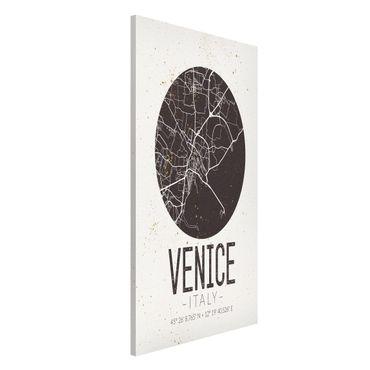 Magnettafel - Stadtplan Venice - Retro - Memoboard Hochformat
