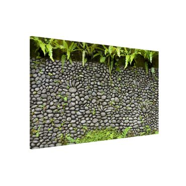 Magnettafel - Steinwand mit Pflanzen - Memoboard Quer