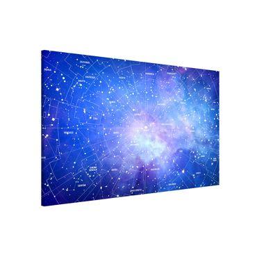 Magnettafel - Sternbild Himmelkarte - Memoboard Querformat