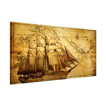 Magnettafel - Time of Exploration - Memoboard Panorama Quer