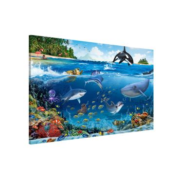 Magnettafel - Unterwasserwelt mit Tieren - Memoboard Querformat