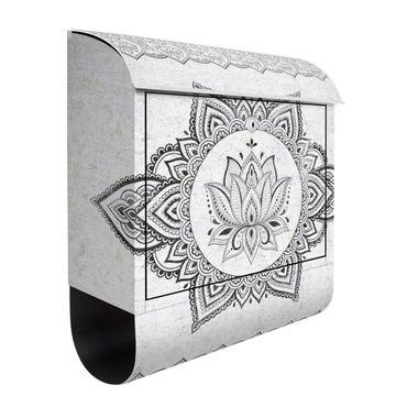 Briefkasten - Mandala Lotus Betonoptik
