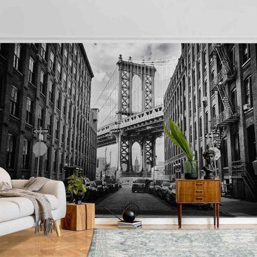 Metallic Tapete  - Manhattan Bridge in America