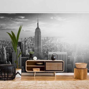 Metallic Tapete  - Manhattan Skyline