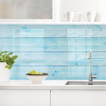 Küchenrückwand - Maritime Holzplanken