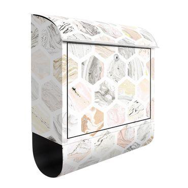 Briefkasten - Marmor Hexagone in Beige