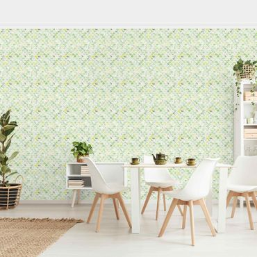 Fototapete - Marmor Muster Frühlingsgrün