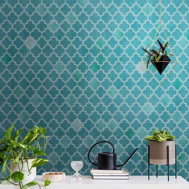 Metallic Tapete  - Marokkanisches Ornament Muster