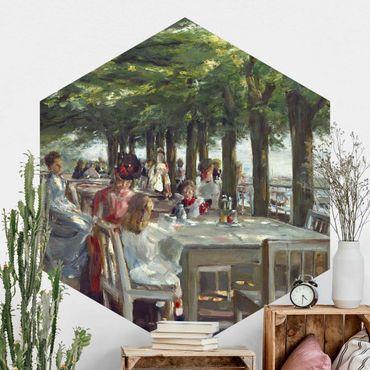 Hexagon Mustertapete selbstklebend - Max Liebermann - Terrasse des Restaurants Jacob
