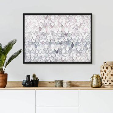 Bild mit Rahmen - Meerjungfrauen Magie - Querformat