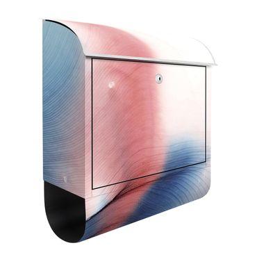 Briefkasten - Melierter Farbtanz in Blau mit Rot