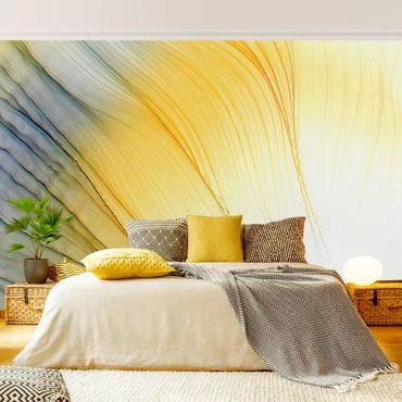 Fototapete - Melierter Farbtanz in Honig