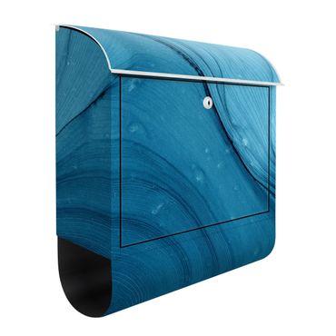 Briefkasten - Meliertes Blau