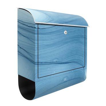 Briefkasten - Meliertes Mittelblau