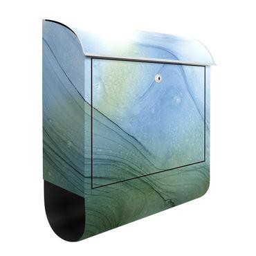 Briefkasten - Meliertes Moosgrün mit Blau
