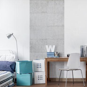 Möbelfolie - Beton Ziegeloptik grau - Steinfolie für Möbel