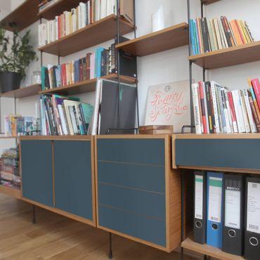 Möbelfolie blau einfarbig - Schieferblau - Möbel Klebefolie türkis-blau