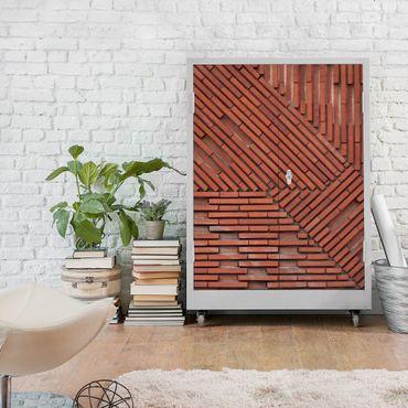 Möbelfolie - Design Ziegelstein rot - Steinfolie für Möbel