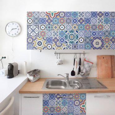 Möbelfolie - Fliesenspiegel - Aufwändige Portugiesische Fliesen - Möbel Klebefolie