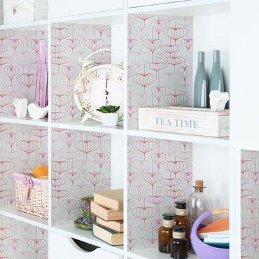 Möbelfolie - Herz Muster - Folie für Möbel selbstklebend