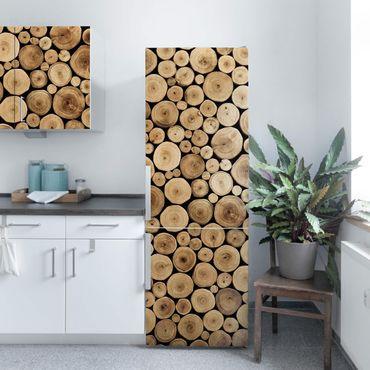 Möbelfolie - Homey Firewood Holzdekorfolie - Folie für Möbel selbstklebend
