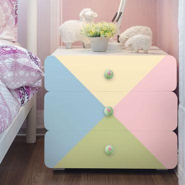 Möbelfolie Kinderzimmer - Set mit 4 schönen Pastellfarben - Crème Rosé Pastellblau Mint