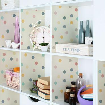 Möbelfolie - Konfetti Punkte Muster - Folie für Möbel selbstklebend