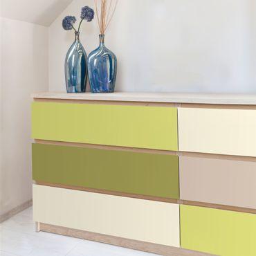 Möbelfolie Küche Set - Frühlingsfrische Farben - Kaschmir Macchiato Pastellgrün Bambus