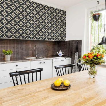 Möbelfolie - Prägnantes Art Deco Muster - Folie für Möbel selbstklebend